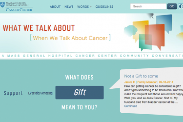 What we talk about when we talk about cancer
